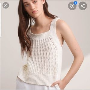 Aritzia Wilfred Caumont Knit tank with linen